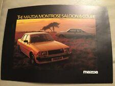 Mazda Montrose Car Brochure - January 1980