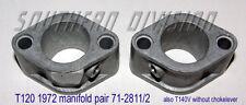 Triumph inlet Manifolds pair Bonneville  71-2811 71-2812 1972 or later T140V