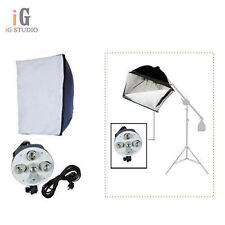 Photo Studio Continuous Lighting Kit 5 in 1 Lamp Holder + 60 x 90cm Softbox