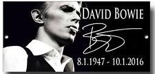 DAVID BOWIE METAL SIGN, MUSIC, CLASSICS,ZIGGY,SPACE ODDITY,SIGNITURE,HEROS