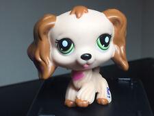 Littlest Pet Shop Cocker Spaniel #1963 Pink Heart Tan Brown Dipped Ears