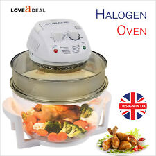 1400W Turbo 17L Halogen Convection Oven Cooker Air Frye Fast Health Safe Cooking