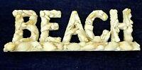 "Beach Decor ""BEACH"" Shell Letters Sign 14.5"" x 4.5"""