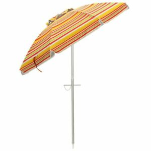 6.5 Ft Sun Shade Patio Beach Umbrella With Carry Bag Without Weight Base Multi
