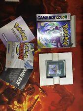 Pokemon Cristallo Nintendo Game Boy Color COMPLETO Originale ITA