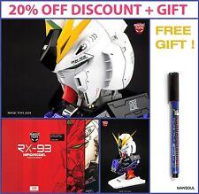 NEW DISCOUNT RX-93 Nu V Gundam Head Model Kit Magic Toys 1/35 with LED + sticker