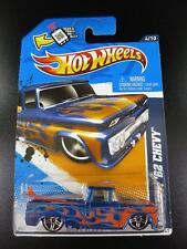 Hot Wheels 2012 Heat Fleet '12 Custom '62 Chevy Pickup Blue w/Surfboard