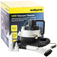 12v Sakura Wet Dry Vacuum Cleaner Hoover Portable Car Caravan Air Pump Inflator