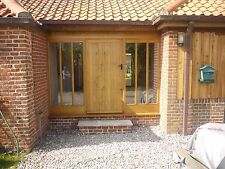 Solid Oak Hardwood French Doors And Frame With Glazed Side panels