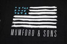 Mumford & Sons 2015 World Tour American USA Flag Official Black T-Shirt
