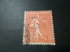 FRANCE 1924/32, timbre 199, SEMEUSE, PERFORE', oblitéré VF used perfin STAMP