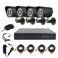 Anspo 4 PACK 720P 4in1 HD Camera Outdoor CCTV Home Security Surveillance System