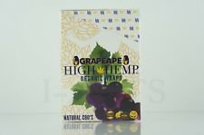 1 Box 25 Pouches(50 wraps) High Hemp Organic Wraps GMO-FREE GRAPEAPE Flavor