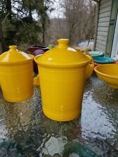 FIESTA WARE large CANISTER CROCK LID daffodil yellow NEW