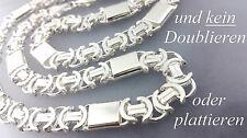 925 Sterlingsilber 11mm Königskette Flach Massive Etrusker Silber Halskette 70cm