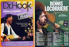DR HOOK 2017 TIMELESS TOUR & DENNIS LOCORRIERE ALONE AGAIN 2011 TOUR FLYERS X 4