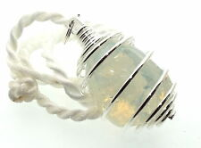 Gran Angelical opalite Piedras Preciosas De Cristal Espiral Colgante