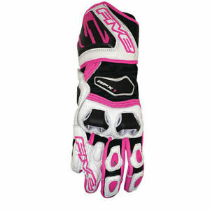 Five5 RFX1 Women's Leather Motorcycle Gloves Fluo Pink Large