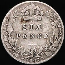 More details for 1907 | edward vii sixpence | silver | coins | km coins