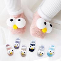 Newborn Baby Infant Boy Girl Kid Cartoon Eye Anti Slip Slipper Floor Socks Shoes