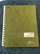 Iwatsu SS-5711 Oscilloscope Instruction Manual