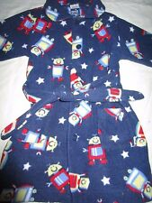 Boys Snooze Zone   fleece dressing gown   Size 1    Robots