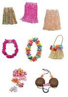#Hawaiian Grass Hula Skirts Bras Adult & Child Luau Fancy Dress Accessories