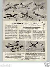 1960 PAPER AD Toy Boats The Clipper Cyclone Battery Operated Airplanes Plane