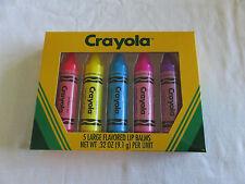 NIB Lotta Luv Crayola Five Large Flavored Lip Balms