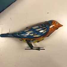 VINTAGE 1960's BIRD TIN TOY MUSICAL WIND UP CLOCKWORK SOVIET USSR CCCP RUSSIA