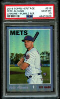 2019 Topps Heritage Chrome High Pete Alonso Rookie Purple Refractor #519 PSA 10