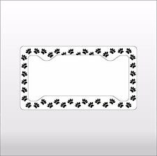 Pet Paws Car License Plate Frame Auto Truck Tag Vanity Frame