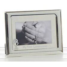 Silver Picture / Photo Frame with My First Communio Communion Chalice * Gift