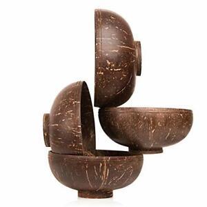 Kokosnuss Schalen mit Standfuß für Buddha Bowls oder Dekoration