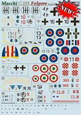 Print Scale 72-197 Decal for Macchi C.202 Folgore 1:72