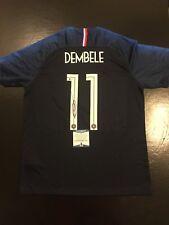 Ousmane Dembele World Cup France Autographed Sz L Jersey BAS Beckett (JSA PSA)