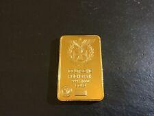 GERMAN Reichsbank Gold Plated 24Kt Novelty Bullion Ingot Bar Gold Plated Germany