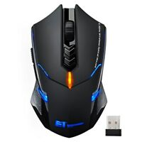 Adjustable 2.4G Wireless Gaming Game Mouse Mice for Apple Laptop PC Tablet iMac