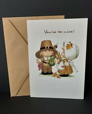 VTG THANKSGIVING Greeting Card Ruth J Morehead Gibson 1998 Blessed Are Ye UNUSED