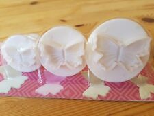 3 butterfly plunger cutters cake making icing shapes