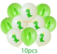 "Green Dinosaur Marble Latex Balloons (10pcs) Helium Quality 10""/25cm  Decoration"