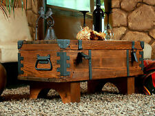 Coffee Table   Truhe Holzkiste  Vintage Shabby Frachtkiste Cottage Vintage Trunk