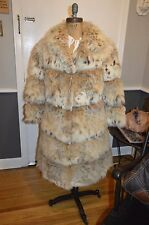 spotted fox fur suede coat