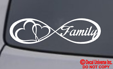 FAMILY LOVE HEART INFINITY FOREVER SYMBOL VINYL DECAL CAR WINDOW BUMPER STICKER