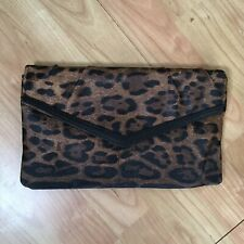 Dorothy Perkins Leopard Print Envelope Clutch Bag Grab Bag Night Out Bar Party
