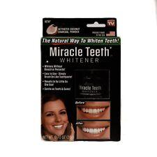 Miracle Teeth Whitener Natural Coconut Charcoal Powder Gentle-Teeth NEW