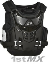 Fox Raptor Motocross Offroad MX Race Body Armour Black White Youth