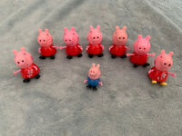 Bundle Of Peppa Pig Figures 8 Including Peppa Pig & George Pig