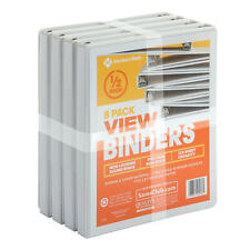12 Round Ring View Binder White 8 Pk