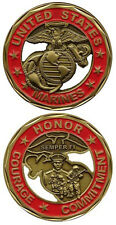 NEW U.S. Marines - Honor Courage Commitment Cutout Challenge Coin. 2443.